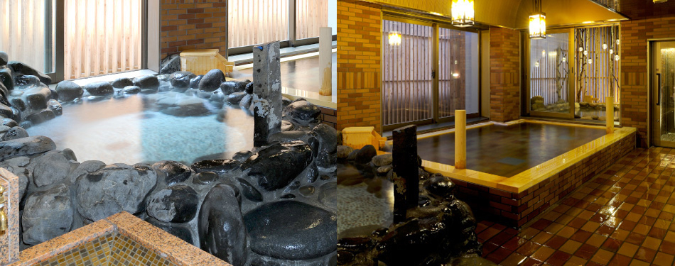 岩風呂・内湯(天然温泉)