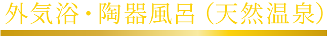 外気浴・檜風呂(天然温泉)